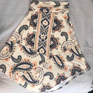 Anthropologie Maeve Maxi Skirt